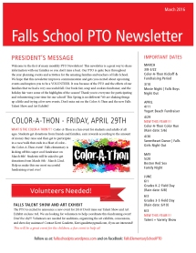 PTO Newsletter-March 2016