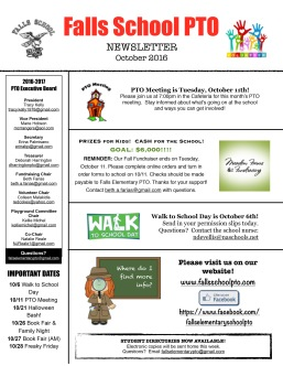 September newsletter front